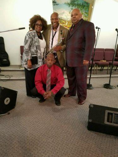 Pastor and music crew