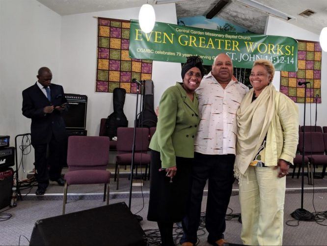 Rev Webb The Roberson daughters and Pastor G Homecoming 2019